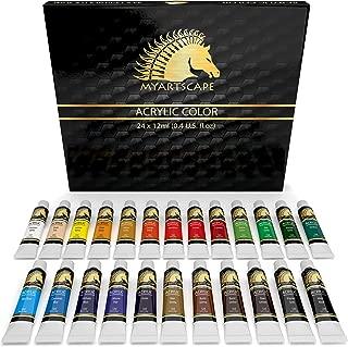Acrylic Paint Set - 24 x 12ml Tubes - Heavy Body - Lightfast - Artist Quality Paints by MyArtscape