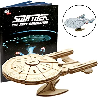 Star Trek The Next Generation: U.S.S. Enterprise Book and 3D Wood Model Figure Kit - Build, Paint and Collect Your Own Wooden Toy Model - Great for Kids and Adults, 10+ - 5