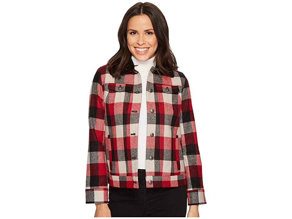 Pendleton Timber Plaid Wool Jacket (Red/Charcoal Buffalo Plaid) Women