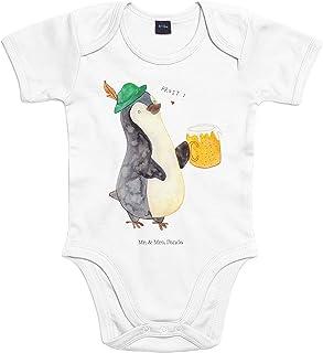 Mr. & Mrs. Panda Mr. & Mrs. Panda Strampler, Babysuit, 3-6 Monate Baby Body Pinguin Bier - Farbe Transparent
