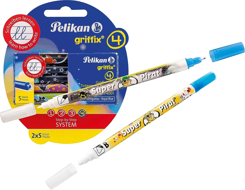Pelikan 4001 Griffix Großraum Tintenpatronen 2 X 5 Stück Blisterpackung 2 Tintenlöscher Super Pirat B F Bürobedarf Schreibwaren