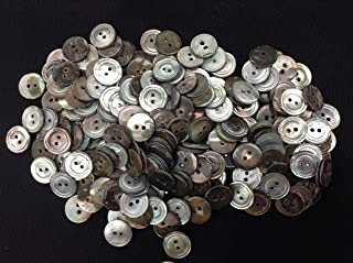 """Grey Ocean Pearl -Mother of Pearl Buttons 250 Pcs. 1/2`""""- 2 Hole #3 Quality"""
