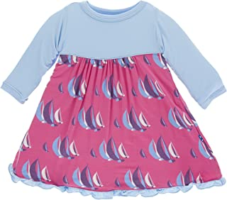 Little Girls Classic Long Sleeve Swing Dress