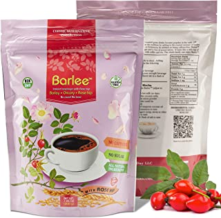Barlee - Coffee Alternative Beverage Blend (Instant Coffee Substitute), with barley, chicory root and rose hip, Pack of 2 ...