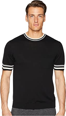 Todd Snyder Tipped Short Sleeve Crew Sweater