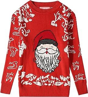 Camii Mia Big Girls' Funny Santa Reindeer Pullover Ugly Christmas Sweater