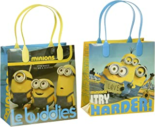 Universal Studios Despicable Me Minions Le Buddies Premium Quality Party Favor Goodie Small Gift Bags 12