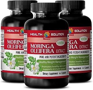 Moringa - MORINGA OLEIFERA EXTRACT 1200 - Skin Care 3 Bottles, 180 Capsules