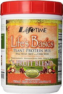 Lifetime Plant Based Protein Powder | Fruit Blend - Pomegranate, Mangosteen, Goji, Noni, Acai | No Gluten, Non-GMO, No Art...
