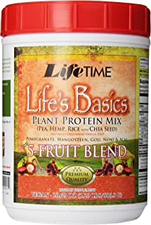 Lifetime Life's Basics Plant Protein Power, 5 Fruit Blend, 21.6-Ounce