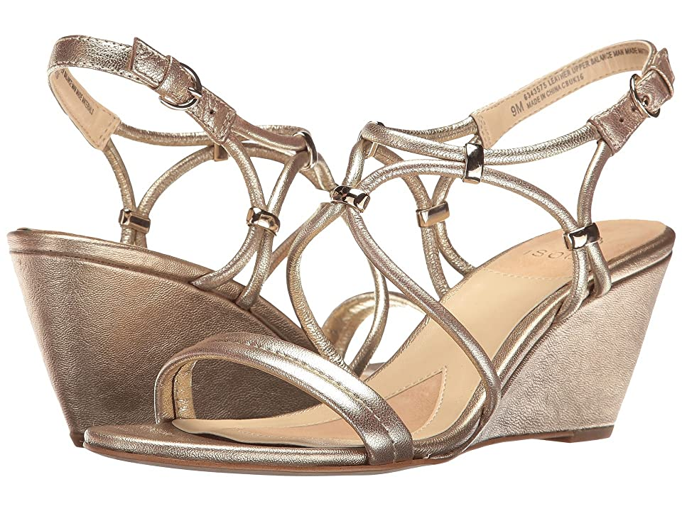 dc018491c068 Isola Farrah (Satin Gold Grid Metallic) Women s Sandals