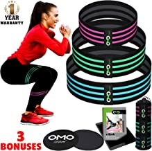 OMOteam Booty Bands, Resistance Bands for Legs and Butt, Keep Your Body in a Tip Top Shape, Hip Loop Circle Cloth Exercise Workout Gear, Woman and Man Equipment, Ebook with Complete Workout Program