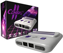 Old Skool Classiq 2 HD 720p Twin Video Game System, Grey/Purple Compatible with SNES/NES Nintendo and Super Nintendo cartridges