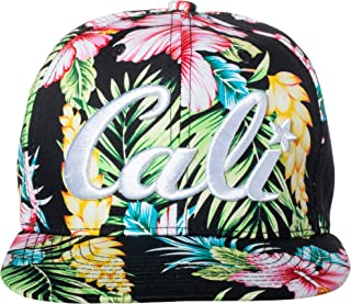 Artisan Owl Cali Hawaiian Tropical Floral Pattern Embroidered Snapback Baseball Cap Hat