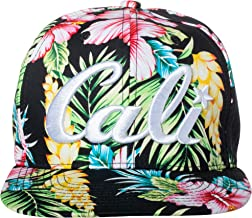 Artisan Owl Cali Hawaiian Tropical Floral Pattern Embroidered Snapback Baseball Cap Hat