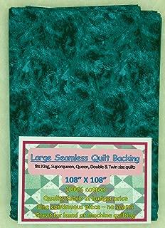 Quilt Backing, Large, Seamless,Dark Black/Teal, C49594-XXX
