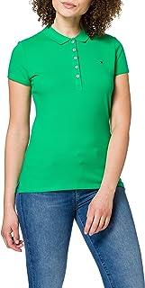 Tommy Hilfiger Short Sleeve Slim Polo Camiseta sin Mangas para bebés y niños pequeños para Mujer