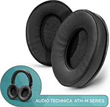 Brainwavz ProStock ATH M50X Upgraded Earpads, Improves Comfort & Style Without Changing The Sound - Custom Crafted Ear Pad Design for ATH-M50X M50BTX M20X M30X M40X Headphones, Vegan Leather, Black