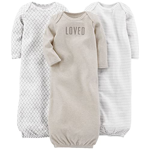 bffb76db3 Simple Joys by Carter's Baby 3-Pack Cotton Sleeper Gown