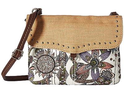 Sakroots Austen Double Gusset Crossbody (Pastel Spirit Desert) Cross Body Handbags