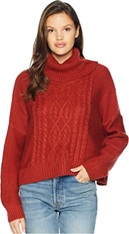 Say Anything Raglan Sleeve Cable Knit Sweater