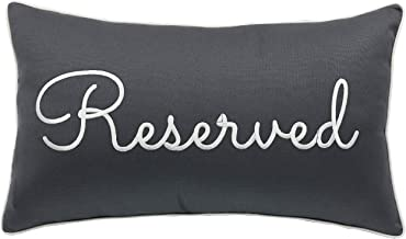 Trivenee Tex Pillowcase Embroidered Be Our Guest Home Bless This Mess Reserved Decorative Throw Pillow Cover Wedding Housewarming Reserved(Grey), 12