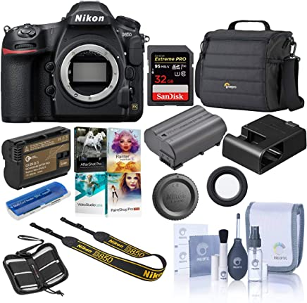 $2996 Get Nikon D850 DSLR Camera Body - Bundle with 32GB SDHC U3 Card, Camera Case, Spare Battery, Cleaning Kit, Memory Wallet, Card Reader, Pc Software Package