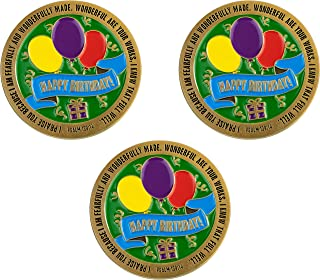 Happy Birthday, Bulk Pack of 3, Religious Birthday Gifts for Friends & Siblings, Grandson & Granddaughter, Boys & Girls, F...