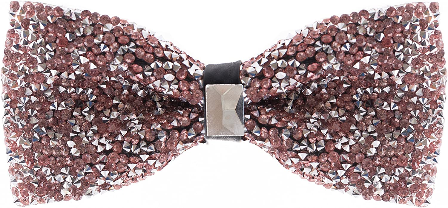 Rhinestone Bow Ties for Men - Pre Tied Sequin Bowties with Adjustable Length - Huge Variety Colors Available