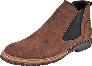 LeeGraim Men's Suede Chelsea Boots