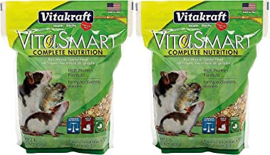 Vitakraft 2 Pack Vita Smart Rat/Mouse Food, 2 Pounds Per Pack