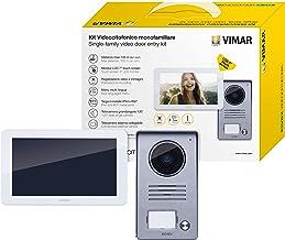 Vimar K40915 Kit Videocitofono Touch Screen Monofamiliare con Alimentatore Multispina, Grigio la Targa Esterna-Bianco Il M...