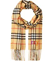 Burberry Kids - Burberry Embroidery Check Scarf (Little Kids/Big Kids)