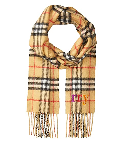 Burberry Kids Burberry Embroidery Check Scarf (Little Kids/Big Kids)