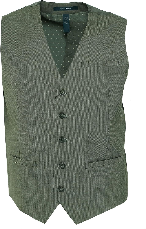 Perry Ellis Men's Slim Fit Textured Solid Suit Vest