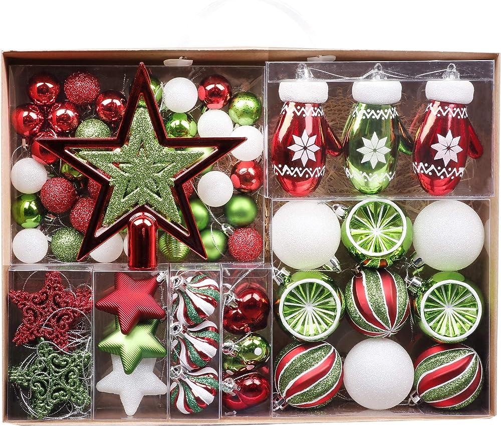 Valery madelyn palle di natale 70 pezzi set di decorazioni EG0102-0004