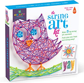 Craft-tastic DIY String Art – Craft Kit for Kids – Everything Included for 3 Fun Arts & Crafts Projects – Owl Series, Large
