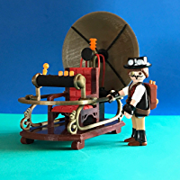 Puente miniatura impreso 3D plástico, escala ideal playmobil ...