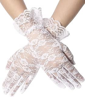 Ladies Lace Gloves Elegant Short Gloves Courtesy Summer Gloves for Wedding Dinner Parties