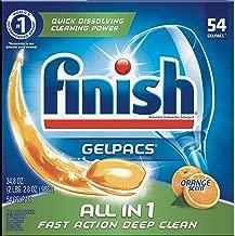 Finish All in 1 Gelpacs Orange, 54ct, Dishwasher Detergent Tablets