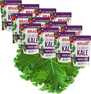 Brad's Plant Based Organic Crunchy Kale, Vampire Killer, 12 Count