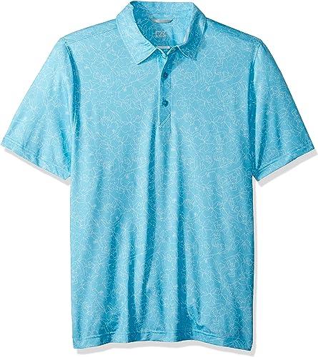 Cutter & Buck Hommes's Moisture Wicking Drytec UPF 50+ Print Jersey Polo Shirt, Aruba Serene Print, Medium