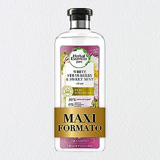 Herbal Essences Shampoo Fragola Bianca e Menta Dolce, Purifica Delicatamente, in Collaborazione con Giardini Botanici Real...