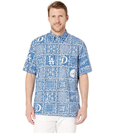 Reyn Spooner LA Dodgers Lahaina Hawaiian Shirt (Blue) Men