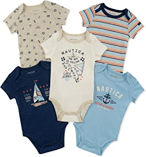 Nautica Baby Boys' 5 Pieces Pack Bodysuits