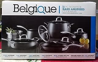 Belgique 11 PC NONSTICK HARD ANODIZED COOKWARE GREY