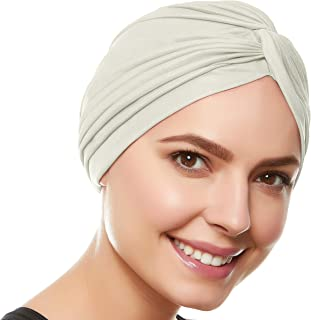 Beemo Polyester Twisted Pleated Turban Head Cover