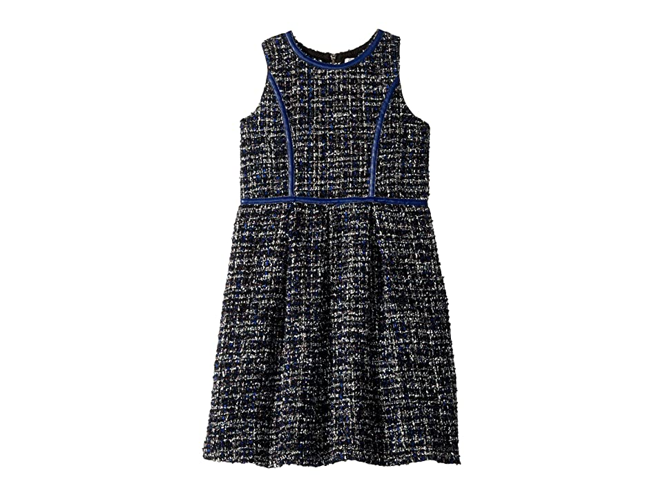 Us Angels Boucle Dress (Big Kids) (Navy) Girl