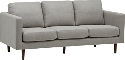 Amazon Com Amazon Brand Rivet Revolve Modern Upholstered Sofa With Reversible Sectional Chaise 80 W Linen Home Kitchen