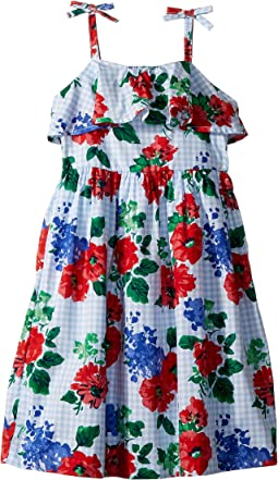 Floral Gingham Dress (Toddler/Little Kids/Big Kids)